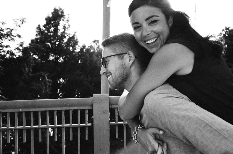 engagement photos film photographers black and white