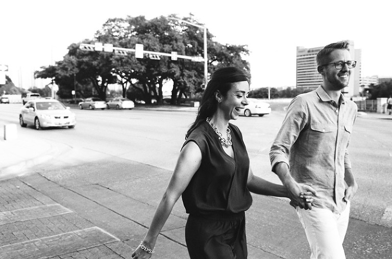 black and white engagement photos michigan